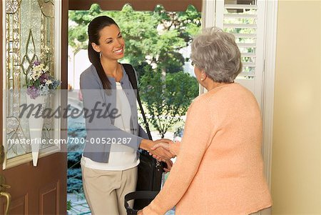 Healthcare Worker Making House Call Stock Photo - Rights-Managed, Image code: 700-00520287
