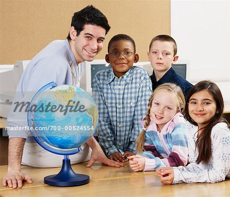 Teacher and Children in Classroom Stock Photo - Rights-Managed, Image code: 700-00524554
