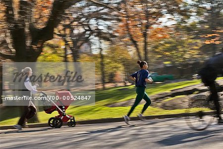People Jogging in Central Park, New York City, New York, USA