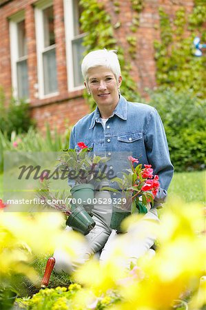 Woman Gardening Stock Photo - Rights-Managed, Image code: 700-00529329
