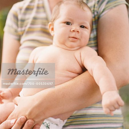 Mother Holding Baby Stock Photo - Rights-Managed, Image code: 700-00530697