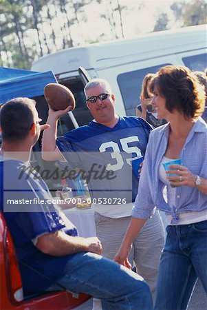 People at a Tailgate Party Stock Photo - Rights-Managed, Image code: 700-00530726