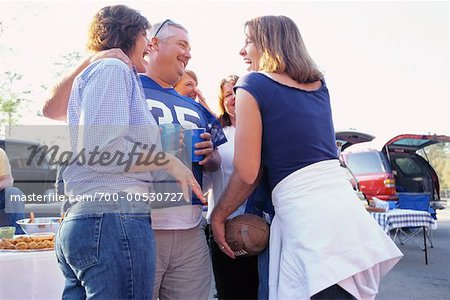 People at Tailgate Party Stock Photo - Rights-Managed, Image code: 700-00530727