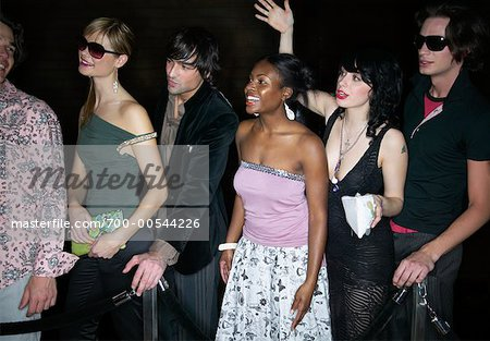 People Waiting in Line Outside Nightclub Stock Photo - Rights-Managed, Image code: 700-00544226