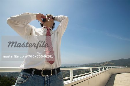 Businessman Talking on Cellular Phone Stock Photo - Rights-Managed, Image code: 700-00546281
