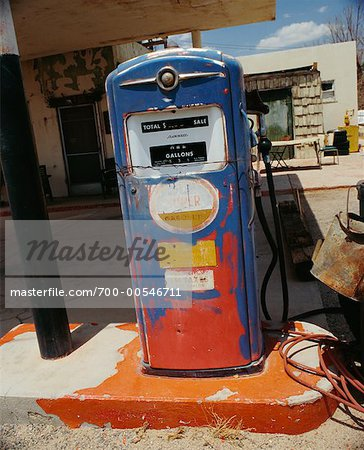 Old Gas Pump Stock Photo - Rights-Managed, Image code: 700-00546711