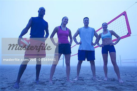 Group Portrait of People on Beach Stock Photo - Rights-Managed, Image code: 700-00549441