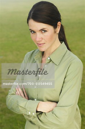 Portrait of Woman Outdoors Stock Photo - Rights-Managed, Image code: 700-00549455