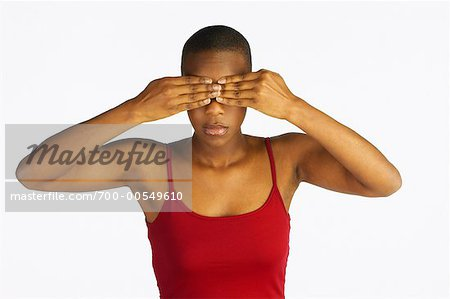 Woman Covering Eyes Stock Photo - Rights-Managed, Image code: 700-00549610