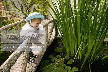 Girl Looking Over Bridge Stock Photo - Rights-Managed, Image code: 700-00549963