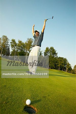 Golfer Putting Stock Photo - Rights-Managed, Image code: 700-00550099