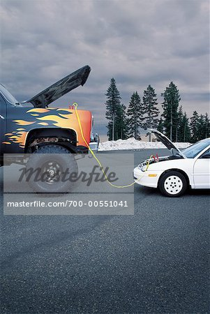 Car Getting Boost from Truck Stock Photo - Rights-Managed, Image code: 700-00551041