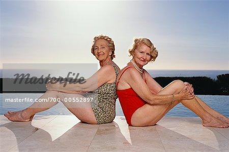 Portrait of Women Wearing Bathing Suits