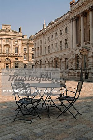 Table and Chairs in Courtyard, Somerset House, London, England