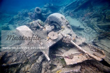 American World War 2 Military Equipment Off Million Dollar Point, Espiritu Santo, Vanuatu