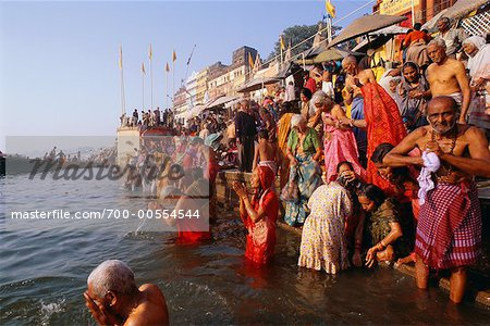 People Bathing in the Ganges River, Varanasi, Uttar Pradesh, India Stock Photo - Rights-Managed, Image code: 700-00554544