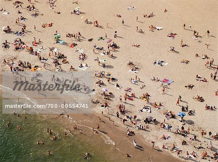 Crowded Beach, Coney Island Beach, Brooklyn, New York Stock Photo - Rights-Managed, Image code: 700-00554741