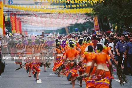 Parade in Street, Cebu, Philippines Stock Photo - Rights-Managed, Image code: 700-00555260