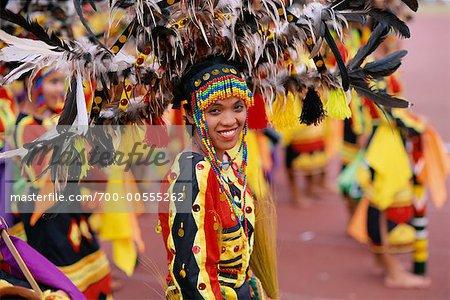Woman in Parade with Traditional Costume, Cebu, Philippines Stock Photo - Rights-Managed, Image code: 700-00555262