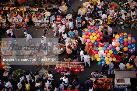Overview of Festival, Cebu, Philippines Stock Photo - Rights-Managed, Image code: 700-00555264