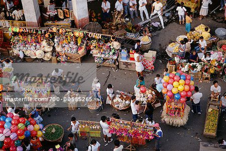Overview of Festival, Cebu, Philippines Stock Photo - Rights-Managed, Image code: 700-00555265