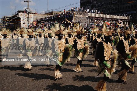 Dancers in Street Festival, Iloilo, Philippines Stock Photo - Rights-Managed, Image code: 700-00555293