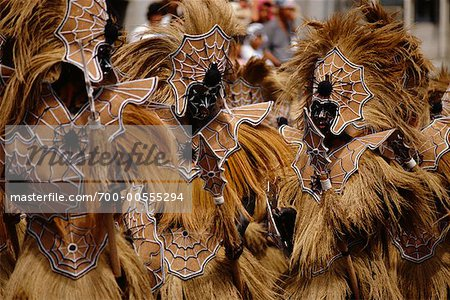 Dancers in Street Festival, Iloilo, Philippines Stock Photo - Rights-Managed, Image code: 700-00555294