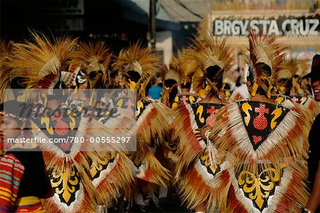 Dancers in Street Festival, Iloilo, Philippines Stock Photo - Rights-Managed, Image code: 700-00555297