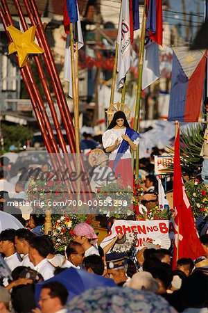 Crowded Parade, Kawit, Cavite, Philippines Stock Photo - Rights-Managed, Image code: 700-00555299
