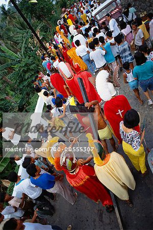 Religious Procession, Marinduque, Philippines Stock Photo - Rights-Managed, Image code: 700-00555307