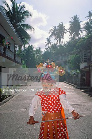Person in Costume, Marinduque, Philippines Stock Photo - Rights-Managed, Image code: 700-00555308