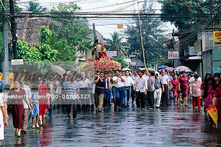 Crowd of People on Street, Cagayan de Oro, Mindanao, Philippines Stock Photo - Rights-Managed, Image code: 700-00555327