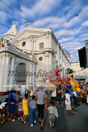 Church and Street Festival, San Fernando, Pampanga, Philippines Stock Photo - Rights-Managed, Image code: 700-00555368