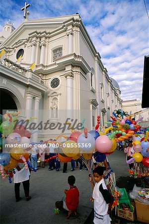 Church and Street Festival, San Fernando, Pampanga, Philippines Stock Photo - Rights-Managed, Image code: 700-00555369