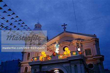Exterior of Church, San Fernando, Pampanga, Philippines Stock Photo - Rights-Managed, Image code: 700-00555370