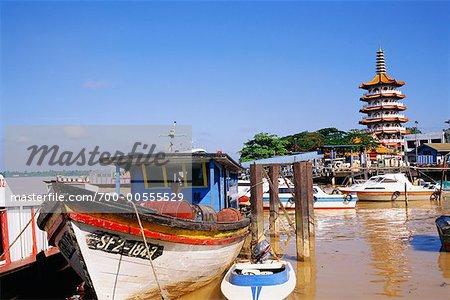 Boat in Marina, Sibu, Sarawak, Borneo, Malaysia