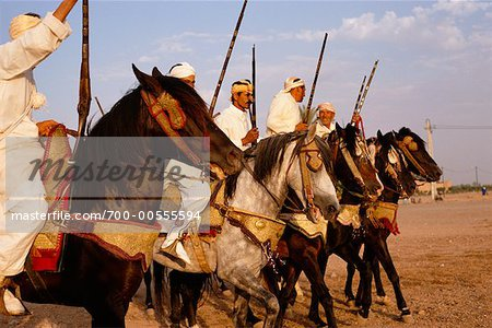 Men Riding Horses, Marrakech, Morocco