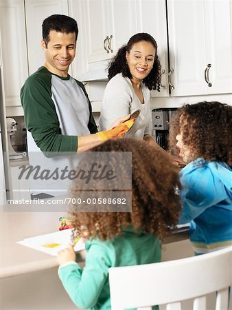 Family in Kitchen Stock Photo - Rights-Managed, Image code: 700-00588682