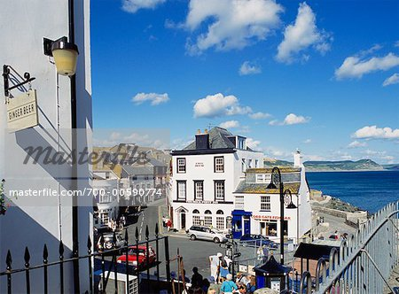 Overview of Lyme Regis, Dorset, England Stock Photo - Rights-Managed, Image code: 700-00590774