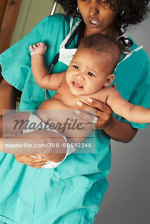 Nurse Holding Baby    Stock Photo - Premium Rights-Managed, Artist: Artiga Photo, Code: 700-00592340
