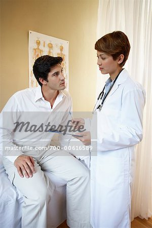 Doctor and Patient Talking Stock Photo - Rights-Managed, Image code: 700-00616589
