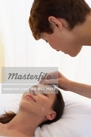 Acupuncturist and Patient Stock Photo - Rights-Managed, Image code: 700-00616592
