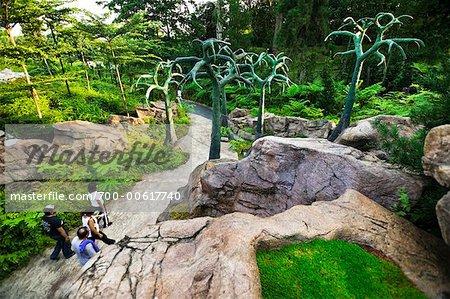 Tourists Walking Through Singapore Botanical Gardens, Singapore