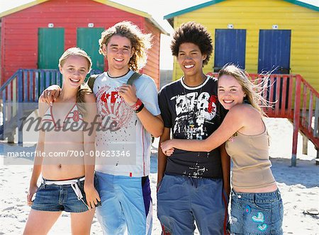 Portrait Of Friends On The Beach Stock Photo - Rights-Managed, Image code: 700-00623346
