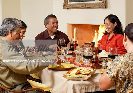 Family at Thanksgiving Dinner Stock Photo - Rights-Managed, Image code: 700-00623530