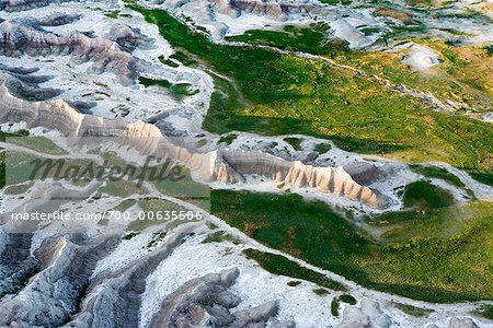 Aerial View of Badlands National Park, South Dakota, USA Stock Photo - Rights-Managed, Image code: 700-00635506