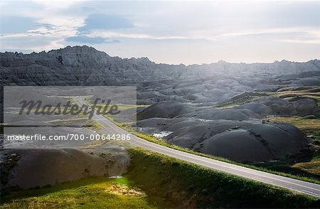 Road in Badlands National Park, South Dakota, USA Stock Photo - Rights-Managed, Image code: 700-00644286
