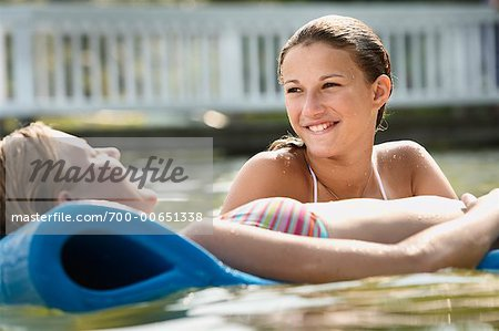 Teenagers in Water Stock Photo - Rights-Managed, Image code: 700-00651338