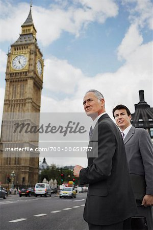 Businessmen Standing on Westminster Bridge, London, England Stock Photo - Rights-Managed, Image code: 700-00651757