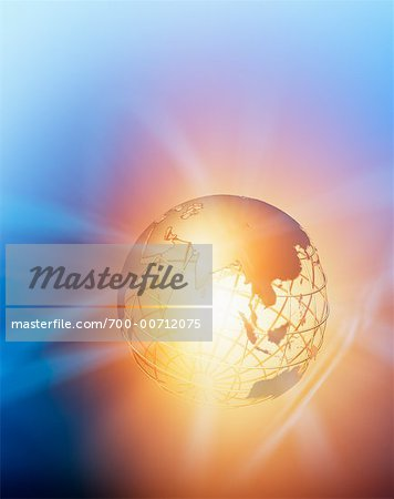 Glowing Wire Frame Globe Stock Photo - Rights-Managed, Image code: 700-00712075